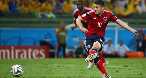 Brazília-Kolumbia: James Rodriguez (Forrás: Facebook / FIFA World Cup)