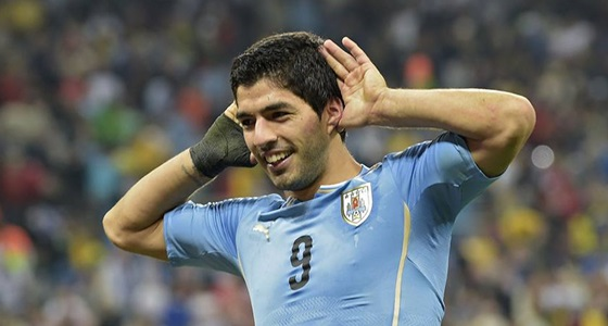 Uruguay-Anglia: Luis Suárez gólöröme (Forrás: Facebook / FIFA World Cup)